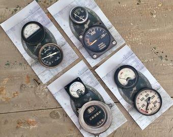 Vintage Gauge Magnet Sets, Machine Gauge Magnets, Vintage Tractor Gauges, Antique Gauges, MinkelMagnets, Minkel Magnets, Karen Minkel