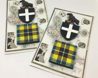 Cornish Themed Magnets,Cornish Magnets,Cornish Magnet Set, Cornish Tartan Magnets, Cornish Gifts, MinkelMagnets, Minkel Magnets,Karen Minkel