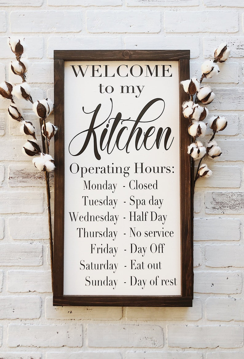 Welcome to my kitchen kitchen operating hours rustic etsy