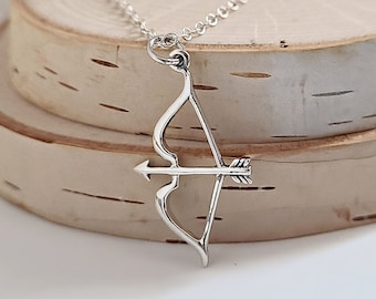 Eros/' Bow and Arrow Necklace in 925 Sterling Silver Love Eros Pendant