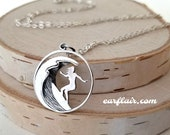 Surfer Girl Necklace Wave Necklace Surfing Gift Ocean Lover Gift Surfer Charm Unique Gifts Beach Lover Gift Surfer Jewelry N129