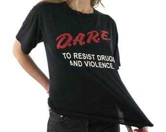 4cbf411407715 Vintage D.A.R.E. Paper Thin T-Shirt