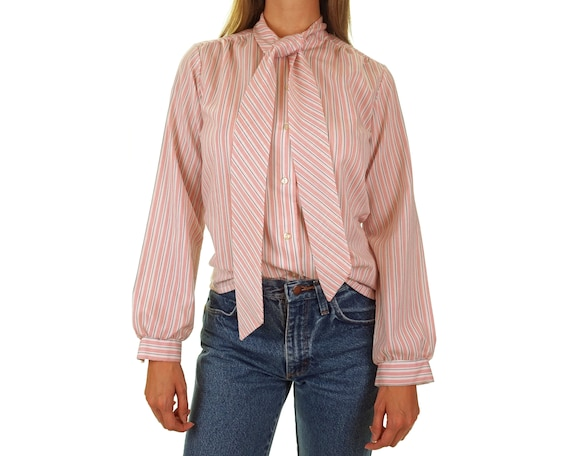 Vintage Secretary Blouse with Pussy Bow and Poet S