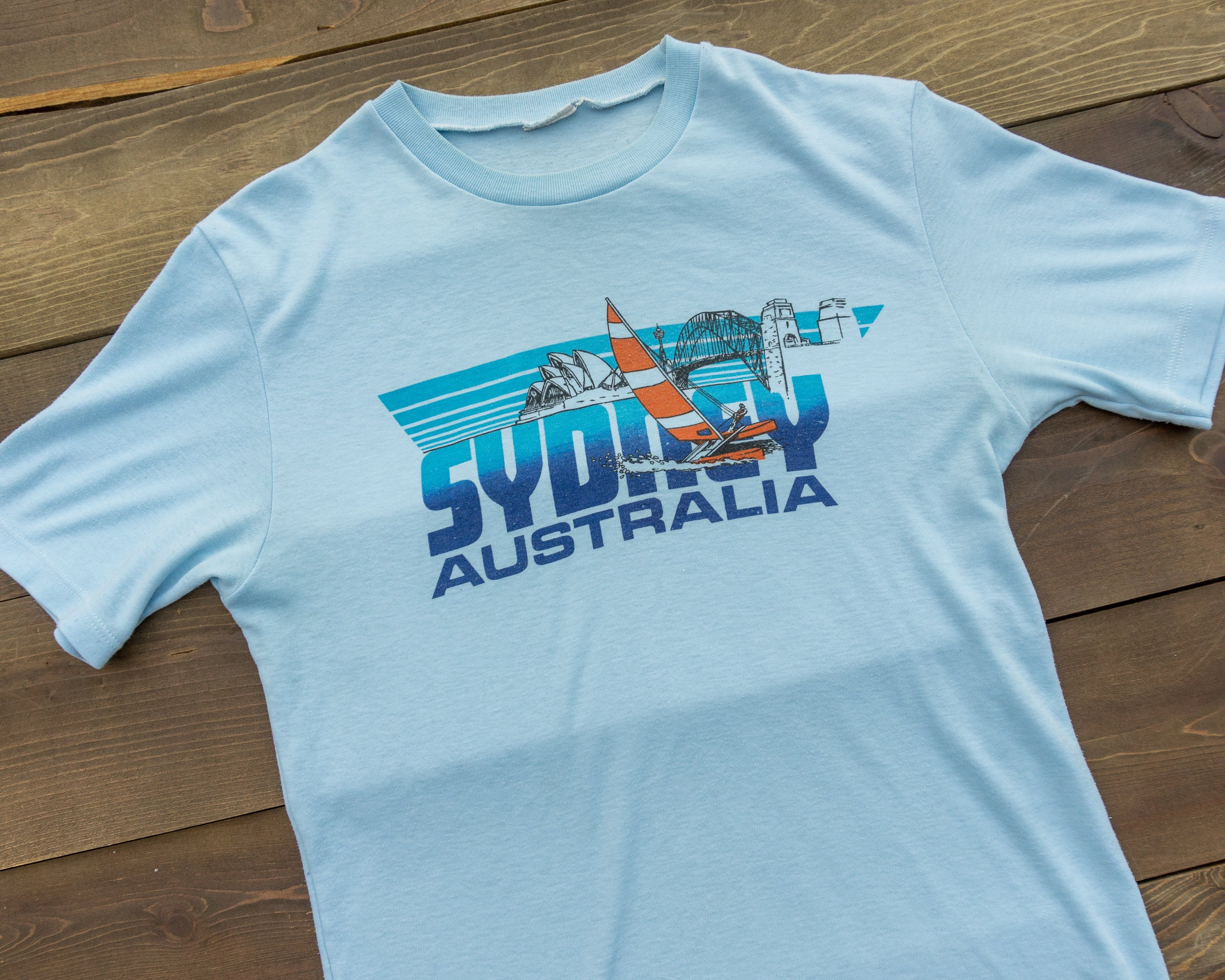 80s Tops, Shirts, T-shirts, Blouse   90s T-shirts 80S Australia Souvenir Tourist T-Shirt Paper Thin $30.00 AT vintagedancer.com