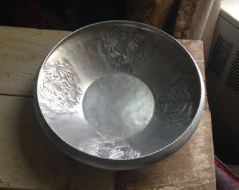 Hammered aluminum bowl by Everlast Metal Co.