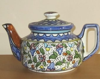 Floral Teapot Colorful from Israel
