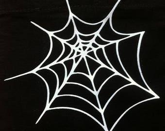 Pattern, fusible, badge, patch, flex, flock, Halloween Spider Web