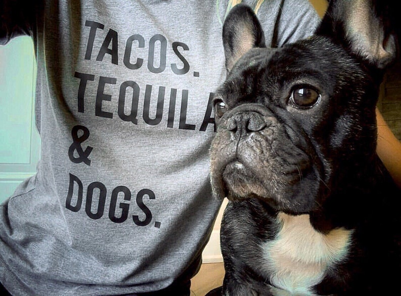 cd1de311 Tacos Tequila & Dogs Shirt Gifts For Dog Lovers and Taco | Etsy