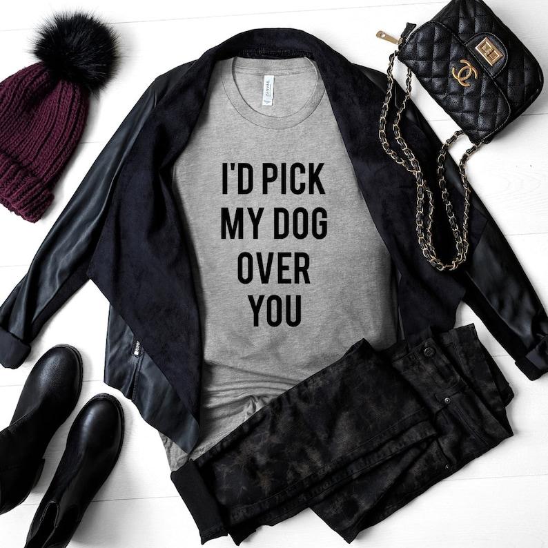 0ca7256c4 Women's Short Sleeve Dog Mom Graphic T-Shirt I'd Pick | Etsy