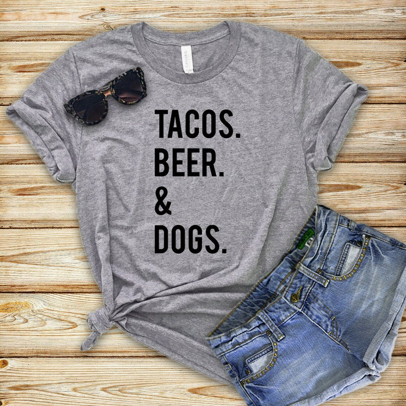 20ffb95a Tacos Beer & Dogs Unique Gifts for Dog Lovers Perfect Dog | Etsy