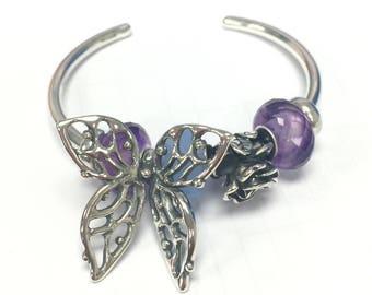Mariposa grande 925 plata