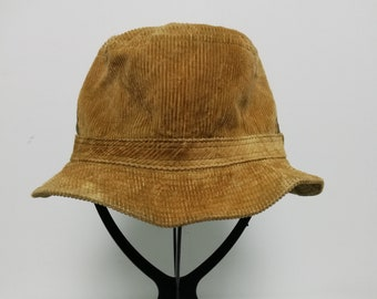 7043acd591876 Vintage Gold Cotton Bucket Hat Reni Hat size S 55cm