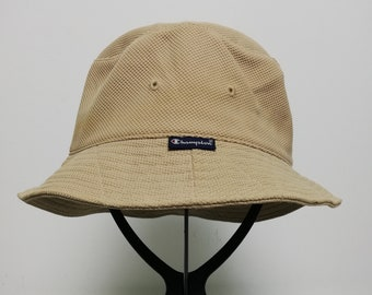 886fcd365ecff Vintage Champion Beige Color Size 57cm Bucket Hat Headwear