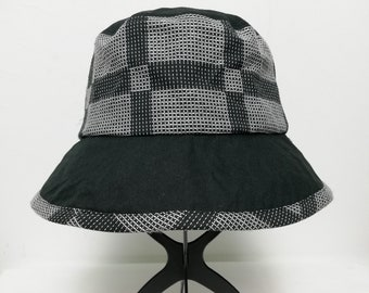 9de7f78149d Vintage Elle Planete Plaid Checkerd Bucket Hat size 57cm