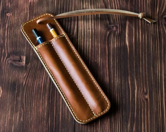 Personalized Leather pencil holder, leather pen holder, apple pencil 2 case, leather Pen sleeve, Leather pen pouch, pencil case, Pen case