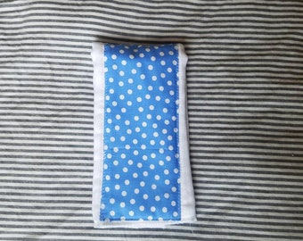 Blue Polka Dot Burp Cloth, Burp Rag, Blue Dots, Gender Neutral Burp Rag, Baby Shower Gift, Baby Gift