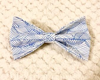 The Geometry pet bow tie