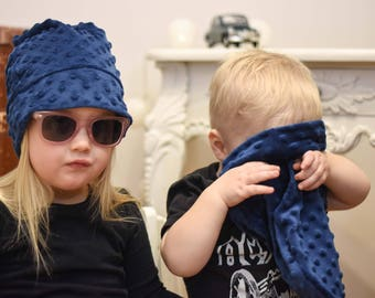 b0a4373732c Bro and sis hats warm fleece beanies winter Dotted beanies Kids hat sets  Matching beanies kid Matching outfits Kids matching hats Slouchy