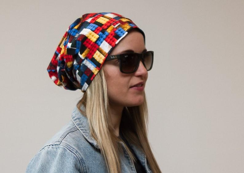 8b85a9a6fab50 Lego theme hat Kid Women beanies Slouchy beanies Girls hats