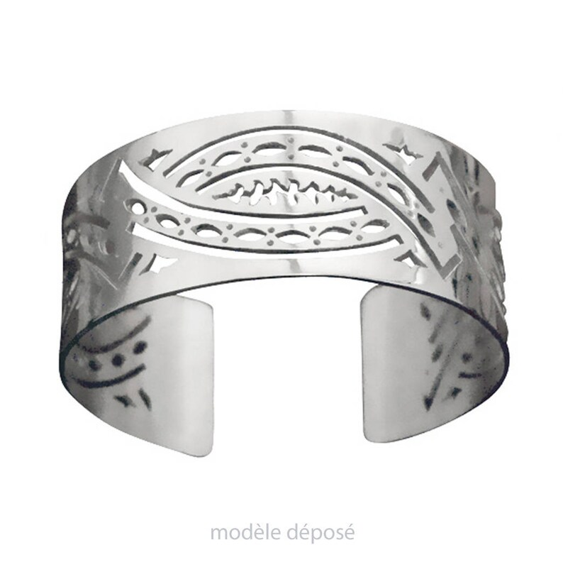BRACELET sterling silver lace design contemporary and image 0