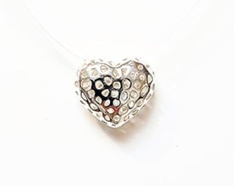 "Heart pendant - ""Love'nFire"" collection - silver 950/1000"