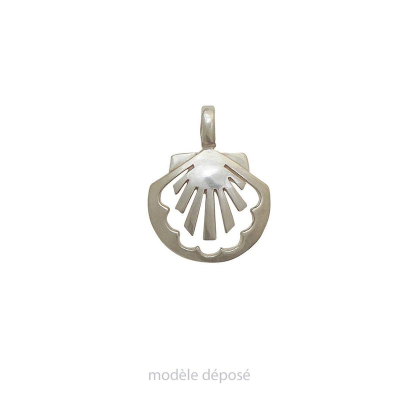PENDANT silver shell-James  concha  contemporary jewelry image 0