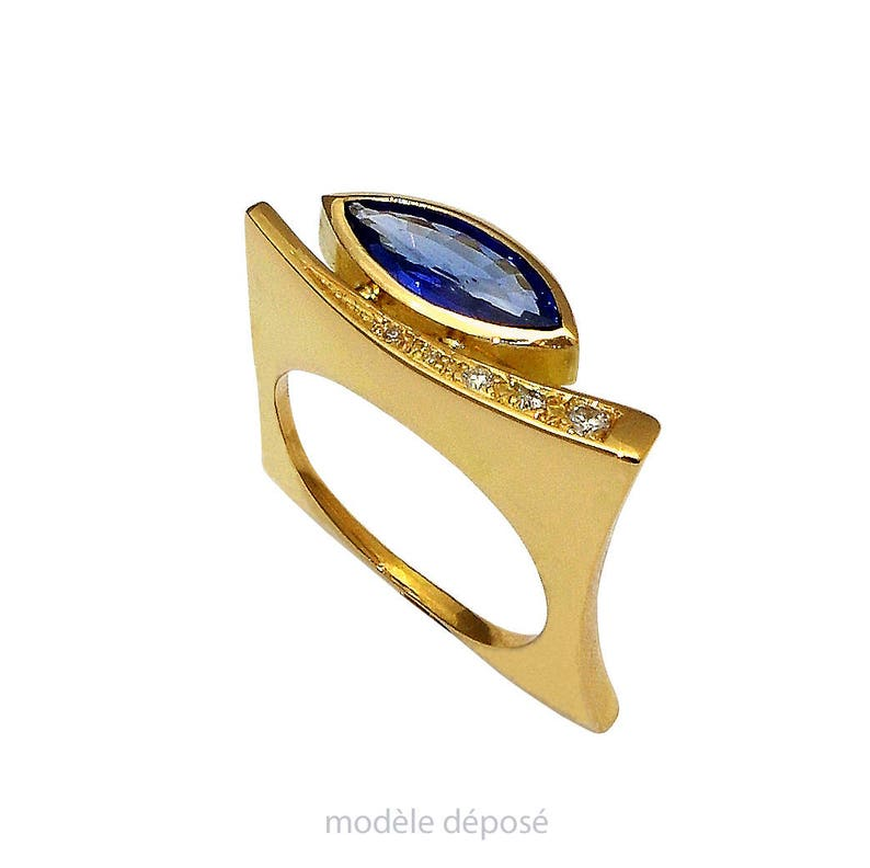 FINE jewellery ring gold ring yellow 750/1000 shuttle and image 0