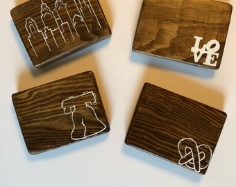 Philly, Philadephia, Philly Philly, Upcycled Coasters