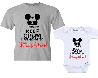 1d069abe5 I Can't Keep Calm I'm Going to Disney World! T Shirt, Family Shirts,  Toddler, Youth kids shirt, Adult Family Disney Family Vacation Shirt