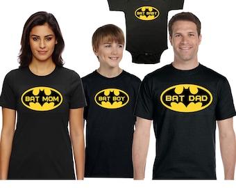 Batman shirt, Batman Family Shirts, Batman Super Hero Tshirt, batman kids shirt, Bat girl,Batman , Family Vacation Shirt, Custom Shirt,