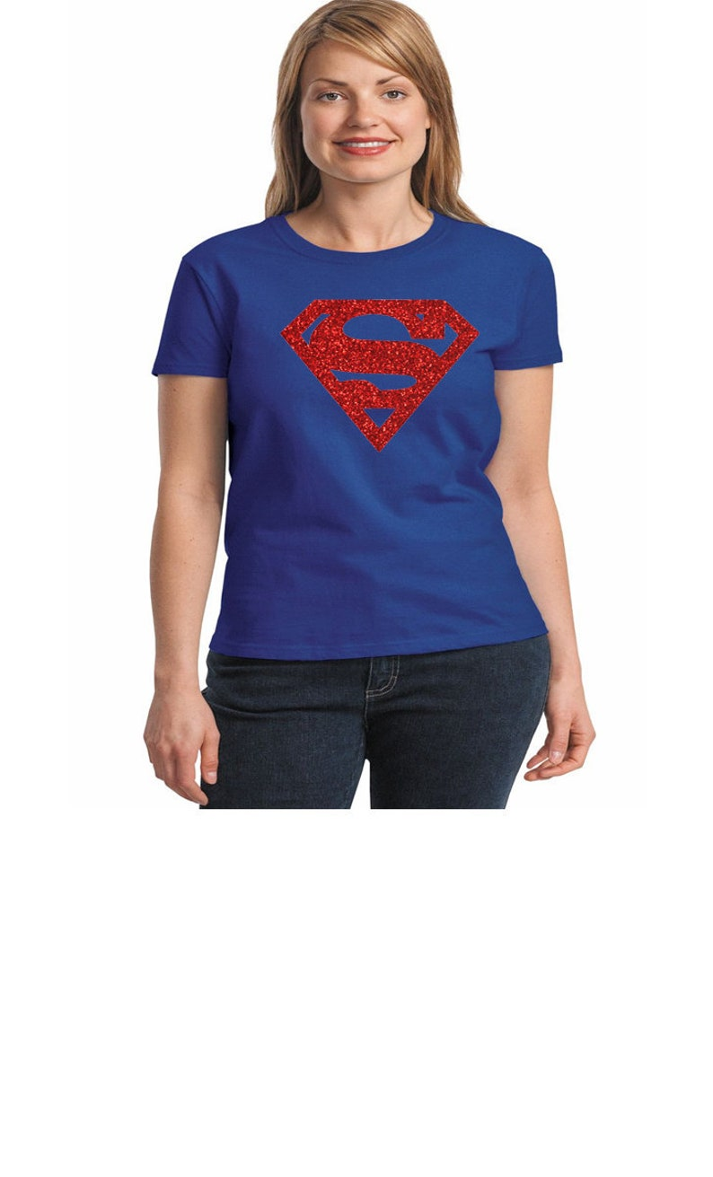 Toddler T shirt superhero  Shirts Adult Disney T shirt Youth Tshirt Supergirl Shirts Supergirl  Glitter