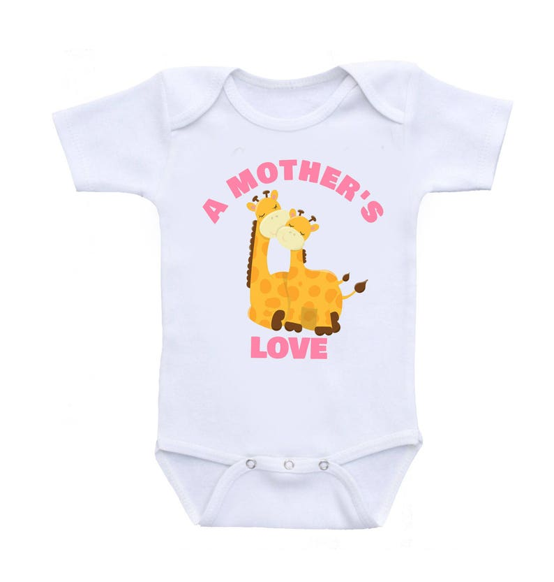 Baby Romper Baby One Piece Baby Bodysuits Baby A Mother/'s Love  Giraffes  Mother and Baby