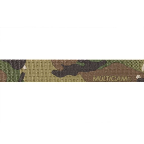 """Double Sided Crye Multicam Black Camouflage Military Spec 25mm 1/"""" Webbing"""