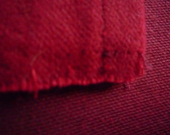 Fabric cotton thick Burgundy upholstery - 2 pieces of 30 * 45 cm
