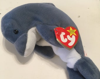 7846dc75c75 Echo the Dolphin Ty Beanie Baby Rare and Retired