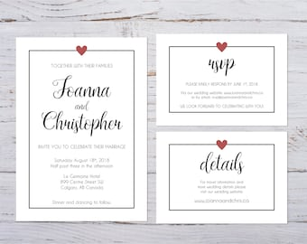 Wedding Invitation Packages.Wedding Invitation Kits Etsy Ca