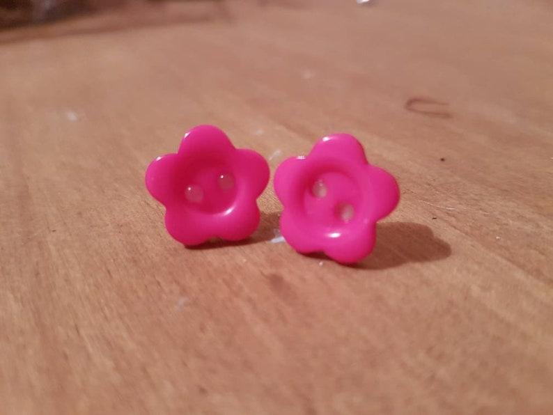 kawaii Button Stud Earrings cute stud ear rings