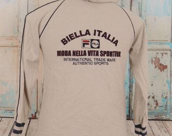 Vintage FILA Biella Italia Hoodie  Sweatshirt, Sports Street Wear Sweater, Size 140