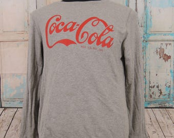 Vintage Coca-Cola Sweatshirt, Soft Drinks Sweater, Size XL