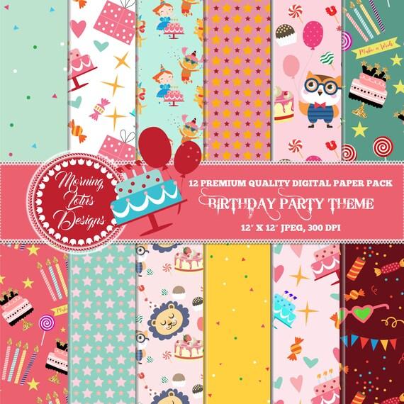 birthday invitations digital paper birthday party birthday etsy