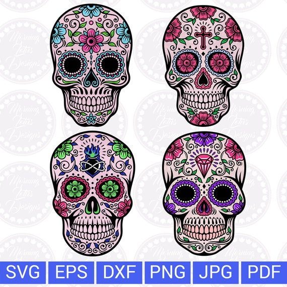 Sugar Skull Svg Day Of The Dead Mexican