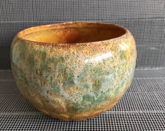 Haeger Mid-Century Clay Pot with Orange Glaze
