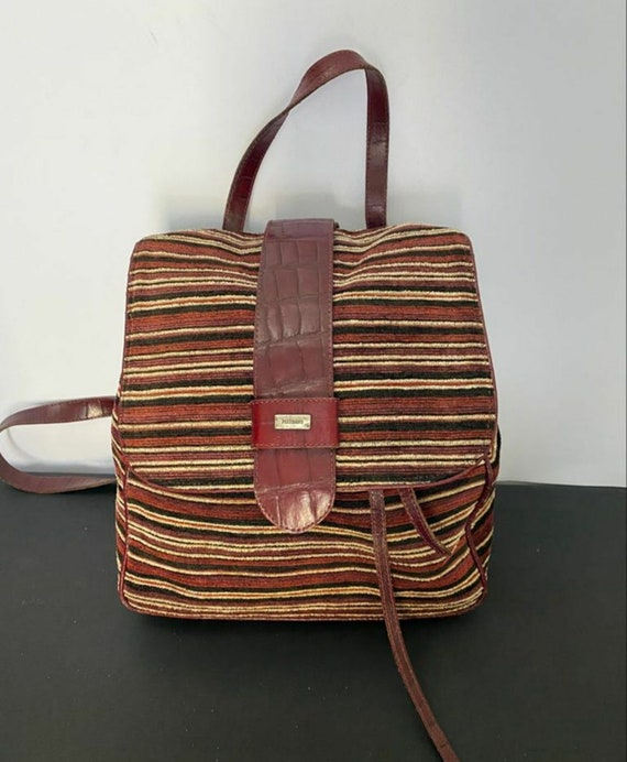 Vintage backpack backpack Missoni canvas leather s