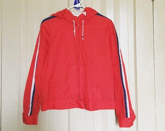 sporty retro windbreaker