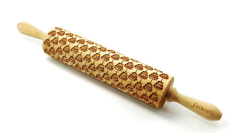 embossing rolling pin laser rolling pin CAKES engraved rolling pin for cookies