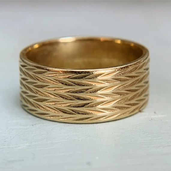 Artcarved Wide Wheat Band 14k