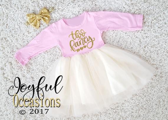 2nd Birthday Tutu Dress Two Fancy Cute Glitter 2pc Year