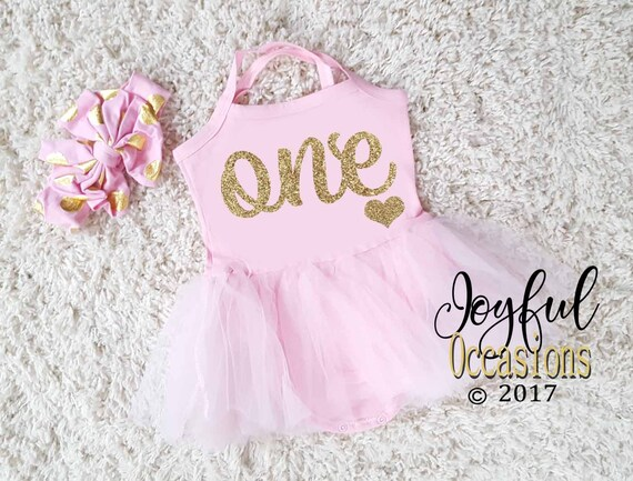 1st Birthday Tutu Dress Baby Girl Spring Summer Cute Pink