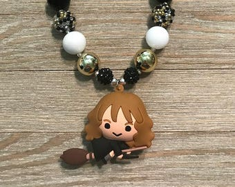 Hermione Granger Inspired Gumball Necklace Harry Potter Sparkly 16-18 inches Bubblegum
