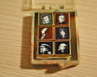 Miniature Soviet collectible icons 6. Vladimir Lenin. Original. USSR